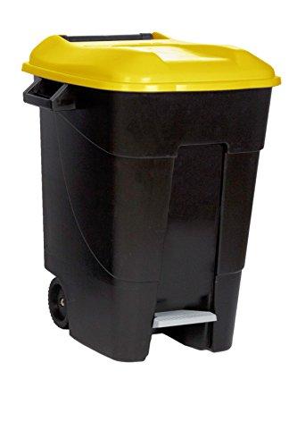 Tayg 421013 Contenedor de residuos Eco 100 L Coin Pedal, Amarillo
