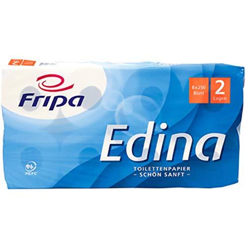 fripa Toilettenpapier Edina 2lagig ca.9,4x11cm 8 Dekorprä. ca.2
