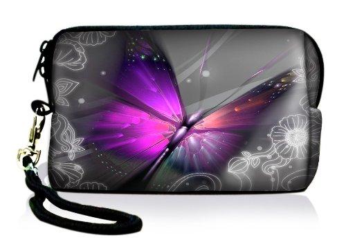 Luxburg® Design Universal Kameratasche Hülle Sleeve Hülle für kompakte Digitalkamera, Motiv: großer Schmetterling