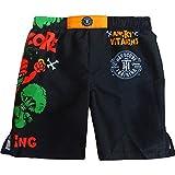 Hardcore Training Angry Vitamins Multicoloured Short de Boxe Enfant Fitness MMA BJJ Vêtements de Sport (12 Years)