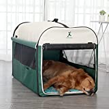 ABCCS Hundekäfig,Hundebox Faltbare Hundetransportbox Auto Transportbox für Hund & Katze Stoff,Vier...