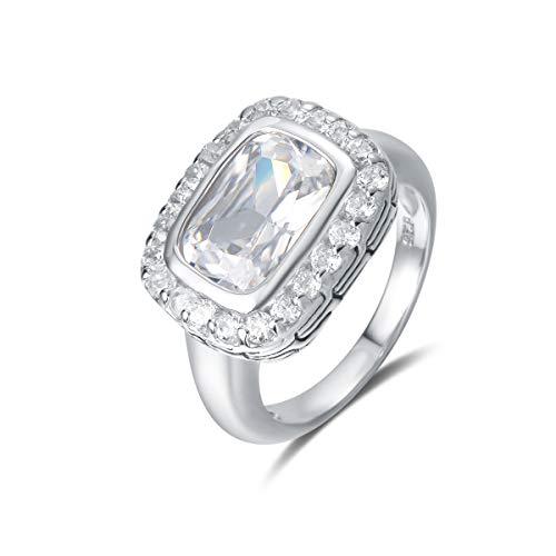 Quiges Entourage Ring van Zilver met Zirkonia Kristal Transparant voor Dames