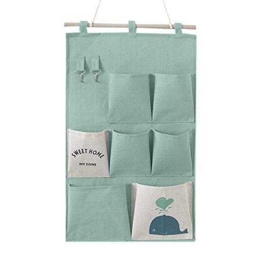 Portaoggetti da Parete in Borsa Mreechan,Borsa multiuso per appendere, borsa per il bagno, adatta per l'home office, può contenere oggetti quotidiani (green)
