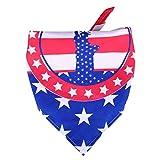 TENDYCOCO Bandera de EE. UU. Pañuelos de EE. UU. para Perros Banderas Americanas Bufanda de Cuello Triangular para Perros Mediano Grande Pequeño Mascotas Babero Estatua de la Libertad