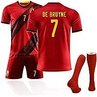 MRRTIME Camisetas de fútbol Hombres y niños Adultos, para 2020 Copa de Europa Bélgica Camiseta de Aficionados al fútbol, Trajes de fútbol Personalizados Uniformes del Equipo Uniformes de entrenamie