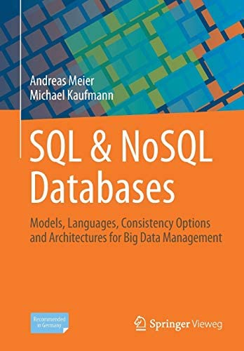 SQL NoSQL Databases Models Languages Consistency Options and Architectures for Big Data Management product image