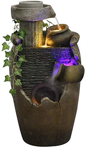 A-Generic Fontaines d intérieur Atomisé Bureau Rockery Fontaine Cascade Humidificateur Bureau Accueil Bureau Décoration Cadeau (Color : B)-C