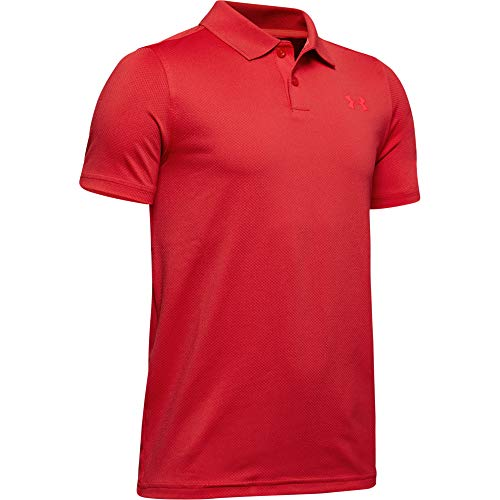 Under Armour Jungen Boys' Performance Polo 2.0, Martian Red (646)/Beta Red, Youth X-Small