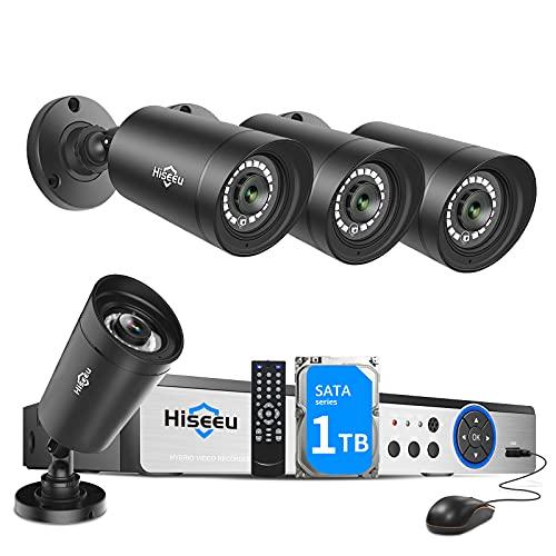 Hiseeu 5MP Security Camera System,H.265+ 8CH 5MP Home Surveillance DVR...