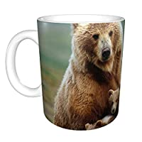 カップ マグカップ コーヒーカップ かわいい クマ 熊 330ml ホワイト セラミック 陶器 熱に強い 軽量 多機能 使いやすい 水筒 男女兼用 プレゼント パーティー 美しい
