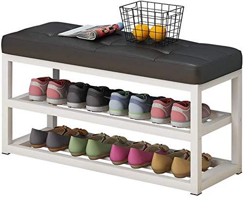 LHYLHY Banco de Almacenamiento de Zapatos Zapatero con Asiento Plegable Acolchado Roble Nivel pequeño Madera para Armario Organizador Caja Armario Armario Soporte Estante Vintage
