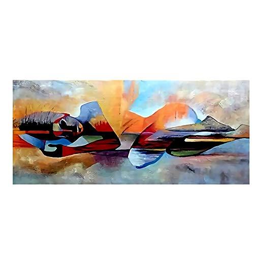 Pintura al óleo de la Acuarela Buda Abstracta en la Lona Poster religiosas y Prints Pared imágenes del Arte for la Sala Sin Marco (Color : B01, Size (Inch) : 50x100 cm)
