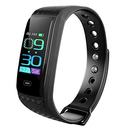 Intelligente Armbänder CK17S 0,96 Zoll IPS-Bildschirm Smart Armband IP67 wasserdicht, Unterstützung Anruferinnerung / Herzfrequenzüberwachung / Blutdrucküberwachung / Schlafüberwachung (schwarz) Smart