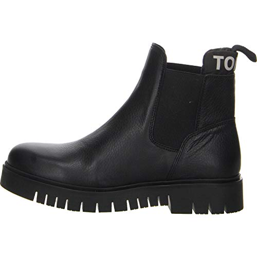 Tommy Hilfiger Damen Padded Tongue Chelsea Boot Stiefeletten, Schwarz (Black 990), 41 EU