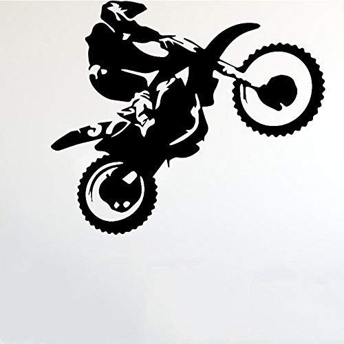 Motorcycle stunt driver wall sticker for boys bedroom wallpaper kids room decor decal sticker pared-M 30 cm x 36 cm