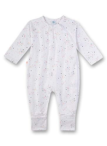 Sanetta Baby-Mädchen Strampler, Weiß (weiß 10), 74 (Herstellergröße:074)
