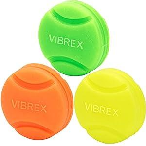 Tourna Vibrex Neon Tennis Vibration Dampeners, Neon Assorted, 3 Per Pack