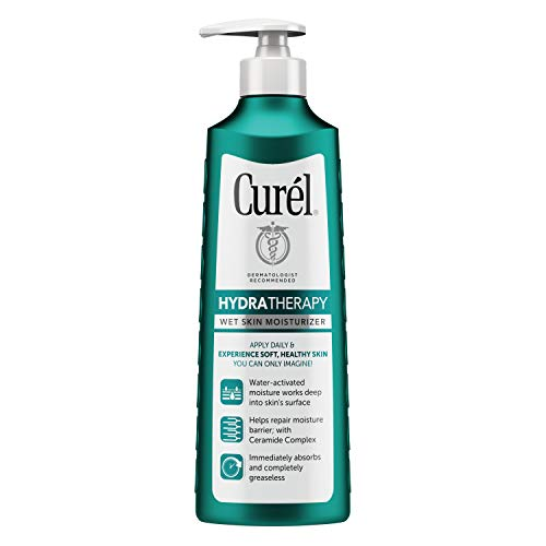 Curél Hydra Therapy In Shower Lotion, Wet Skin Moisturizer for Dry or Extra-dry Skin, 12 Ounce, with Advanced Ceramide Complex, for Optimal Moisture Retention