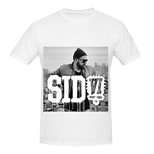 Sido Vi R&B Album Cover Herrens Crew Neck Short Sleeve Shirts X-Large