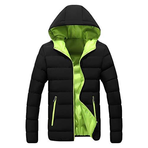 AmyGline Jacke Herren Übergangsjacke Winterjacke Steppjacke Mit Kapuze Sportjacke Daunenjacke Sweatshirt Mantel Outdoorjacke Softshell Jacke