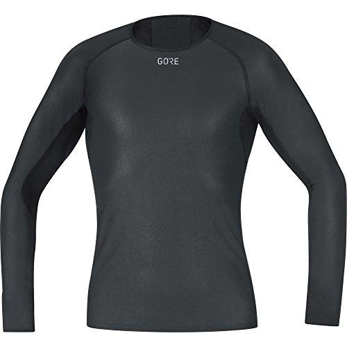 GORE Wear Camiseta interior cortavientos de hombre, S, Negro, 100323