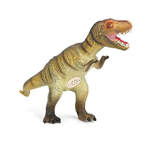FLORMOON Figurinhas Brinquedos Realistas Vinil Dinossauro Tiranossauro Rex dinossauro com Som, Projeto de Ciências, Aprendendo Brinquedos Educativos, Bolo Topper para Crianças (Algodão Cheio)