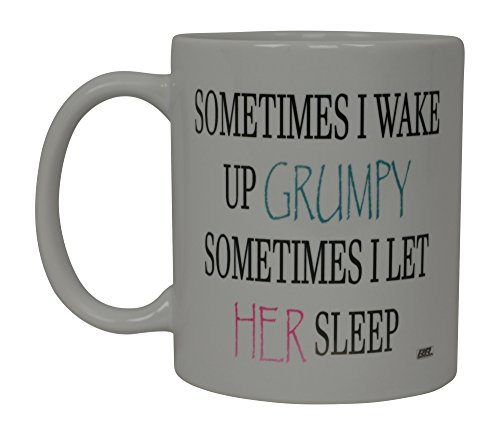 Best Funny Coffee Mug Husband Wife Grumpy Sleep Novelty Cup Wife Great Gift Idea For Men or Women Married Couple Spouse Lover Or Partner (Grumpy)