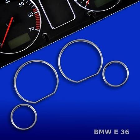 Tr10e38 Chrom Tachoringe Geeignet Für 5er E39 1995 2004 7er E38 1994 2001 X5 E53 1999 2006 Auto