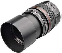 Lente de Enfoque Ultra bajo de Foco Fijo de fotograma Completo F2.8 de 135MM Lente Ed para cámaras Canon o Nikon 5D Mark III 6D D5300 D600 - Negro