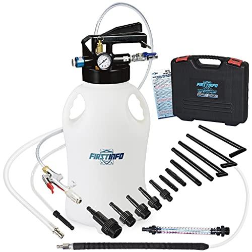 FIRSTINFO A1135NEU | Dispositivo de llenado de aceite de caja de cambios | Modo neumático | 10 litros | con 14 adaptadores ATF | Función bidireccional