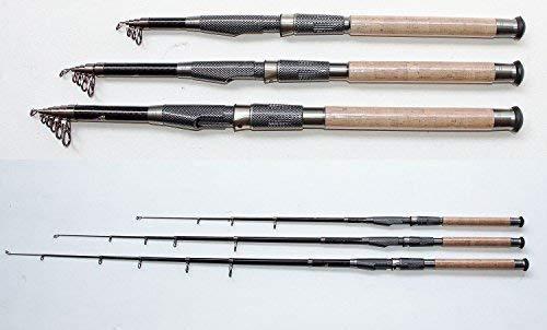 Soytich - Caña de pescar (carbono, 4,5 m de largo, 02-360