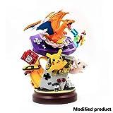 Siyushop Pokemon: Escenas Pokemon Pikachu Consola De Juegos Charizard Mew Estatua PVC De Alta 20CM (7.8Inches)