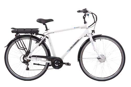 F.lli Schiano E- Moon, Bicicletta Elettrica, Uomo, Bianca, 28''