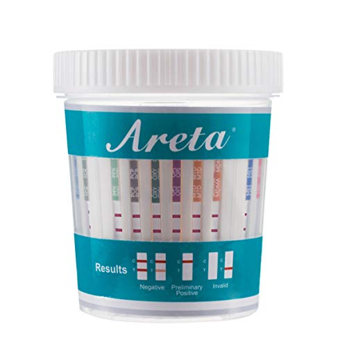 Areta 14 Panel Drug Test Cup Kit with BUP (Buprenorphine) and Temperature Strip, Instant Testing 14 Drugs (BUP),THC,OPI 2000, AMP,BAR,BZO,COC,MET,MDMA,MTD,OXY,PCP,PPX,TCA-#ACDOA-1144 - 5 Pack