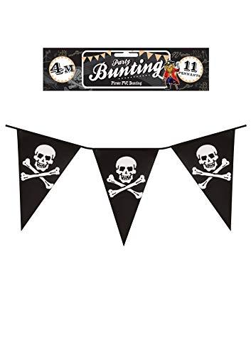 Henbrandt 12 x Pirate Bunting Driehoekige Pennants Vlaggen 12ft PVC