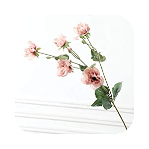 CX-5 Real Touch Artificial Anemone Flowers Silk Flores Artificiales for Wedding Holding Fake Flowers Home Garden Decorative Wreath