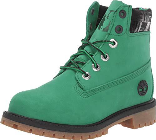 Timberland 6' Premium Waterproof Boot - Boston Celtics (Big Kid) Medium Green Nubuck 6.5 Big Kid M