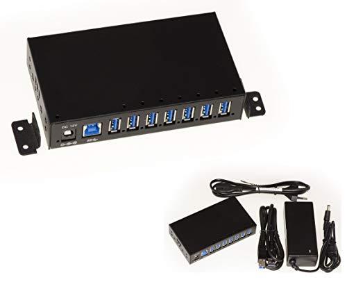 Kalea informatica–Hub industriale/Stazione di Ricarica USB 37porte (USB 3.0SuperSpeed 5GB) Con Alimentazione 3A–incorporato o montabile–Gamma industriale
