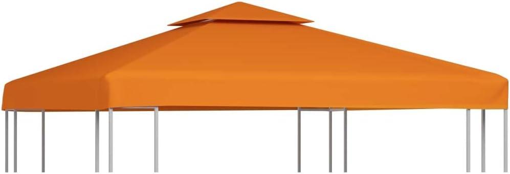 vidaXL Toldo de Cenador de Repuesto Tela Impermeable Beige 3x3 m Techo Pérgola
