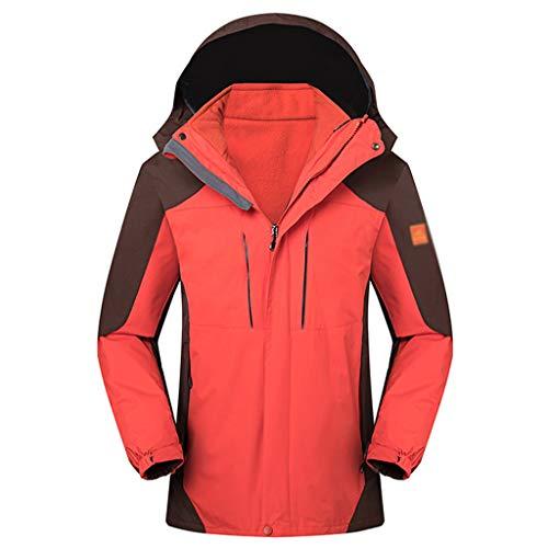 HJHJHAB Heren Waterdichte Jas Winddichte Softshell Jas 3-in-1 Winter Wandelen Mountain Jacket Lichtgewicht Outdoor Regenjas Ski Jas met Hood Sportswear
