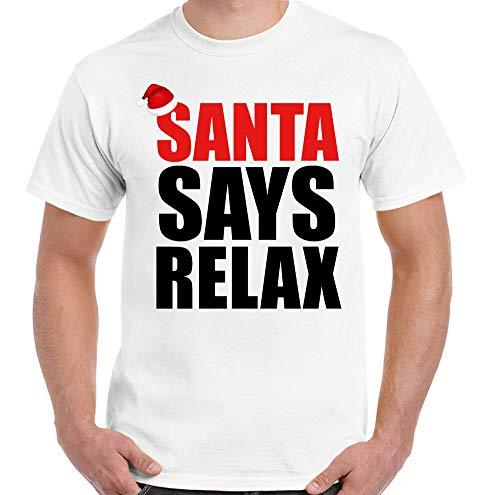 Santa Says T-Shirt Relax Hommes Drôle Noël Frankie Bas Réservoir Secret Santa