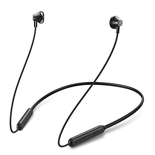 Mreechan Auriculares Bluetooth, Auriculares Deportivos Inalámbricos Bluetooth 5.0, Gimnasio y Viajes (IPX5 A Prueba de Agua, Micrófono con Cancelación de Ruido, Estéreo de Alta Fidelidad)