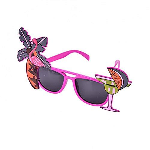JJCDKL 1 unid Gafas de Sol Flamingo Gafas de Sol Neon Tropical Beach BBQ Fancy Dress Party Supplies Novia para ser Accesorios de Fiesta