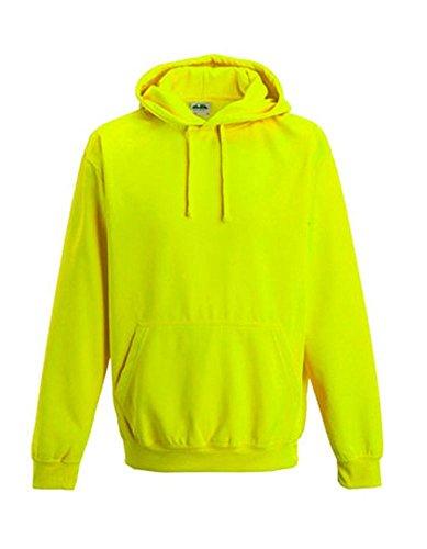 Coole-Fun-T-Shirts Herren Neon Sweatshirt mit Kapuze floureszierend, neongelb, M, 10811_neongelb_GR.M