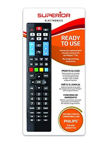 Telecomando universale per tutti i televisori PHILIPS pronto all'uso non richiede programmazione.