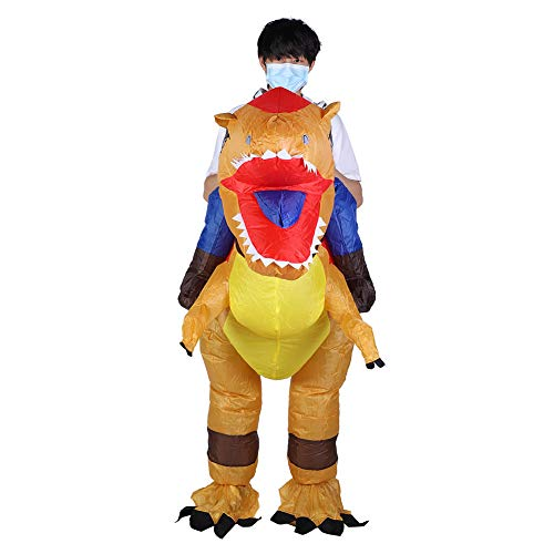 Costume Gonfiabile Dinosauro Costume Gonfiabile di Halloween per Gli Adulti Bambino con La Decorazione del Partito delle Festival del Ventilatore dell'Aria X115