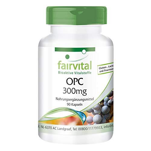 OPC 300mg Kapseln - HOCHDOSIERT - VEGAN - 90 Kapseln - oligomere Proanthocyanidine