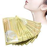 10 unids/set máscara de colágeno para el cuello, antiarrugas, nutritiva, iluminadora, máscara reafirmante para la piel(blanco, Blanca)