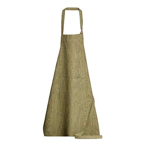 Winkler - Tablier de cuisine - Tablier de cuisine réglable - Tablier pour la cuisine - Tablier barbecue - Tablier 100% Coton - 80 x 85 - Bronze Brun - Reka