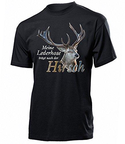 Meine Lederhose trägt noch der Hirsch 4365 Oktoberfest 2019 Männer Wiesn Herren T-Shirt Gürteltasche Schürze Kordel Waden Trachtenhemd Tshirt XL